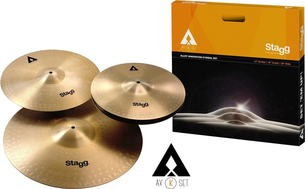 """Stagg AXK Copper Steel Cymbal Set HH14"""" CR 16"""" RD 20"""""""