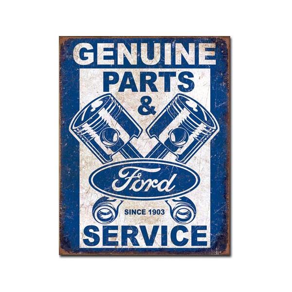 Ford Parts & Service Retro Tin Sign