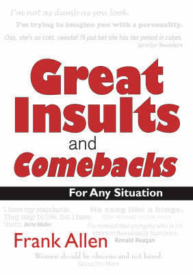 Great Insults and Comebacks by Frank Allen image
