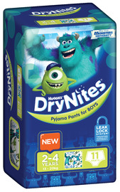 Huggies DryNites - 2-4yrs Boys 13-20Kgs - (11)