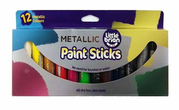Little Brian: Paint Sticks - Metallic (12 Pack)