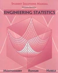 Engineering Statistics: Student Solutions Manual by Douglas C. Montgomery image