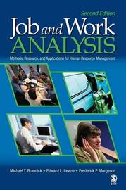 Job and Work Analysis by Michael T Brannick image