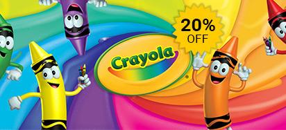 20% off Crayola!