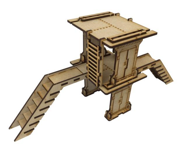 TTCombat: Tabletop Scenics – Industrial Small Platform (Set B)