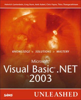 Microsoft Visual Basic .Net 2003 Unleashed by Heinrich Gantenbein image