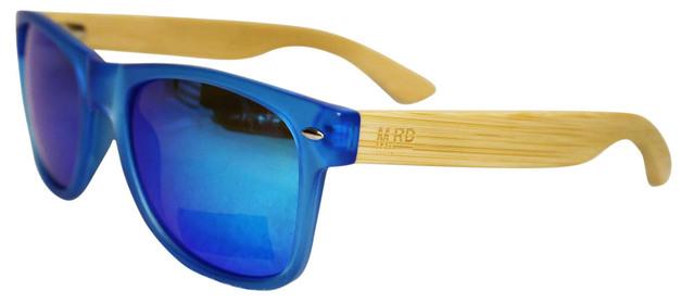 Moana Road: 50/50s Sunglasses - Blue/Wooden