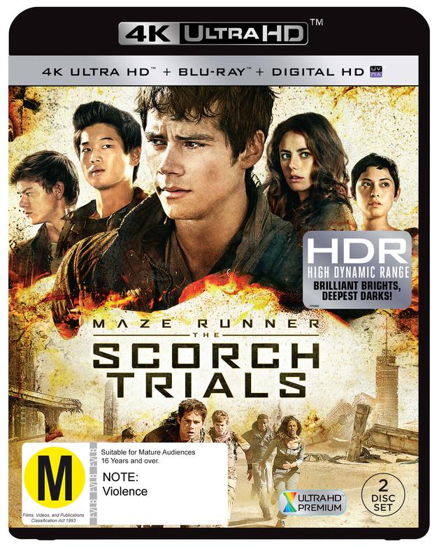 The Maze Runner 2: Scorch Trials on Blu-ray, UHD Blu-ray