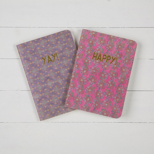 Natural Life: Set Of 2 Journals - Happy Yay