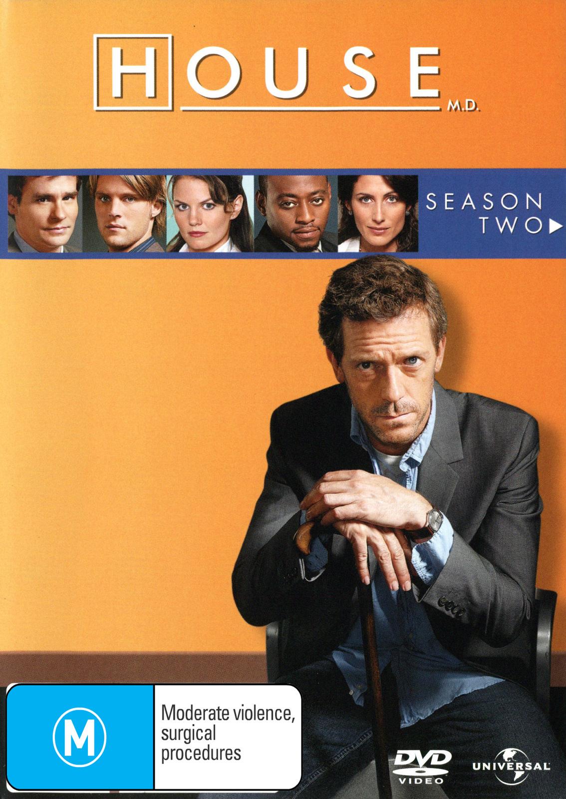 House, M.D. - Season 2 (6 Disc Slimline Set) on DVD image