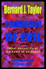 Connoisseur of Evil: A Terrell Newman Murder Mystery by Bernard J. Taylor image