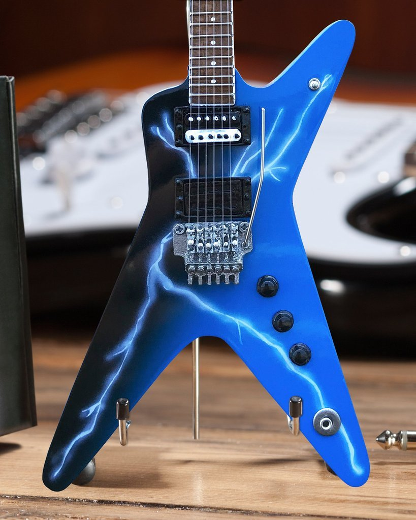 Axe Heaven: Miniature Replica - Dean Dimebag Guitar (Lighting Bolt) image