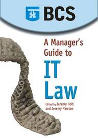 A Manager's Guide to IT Law by Jean Morgan image