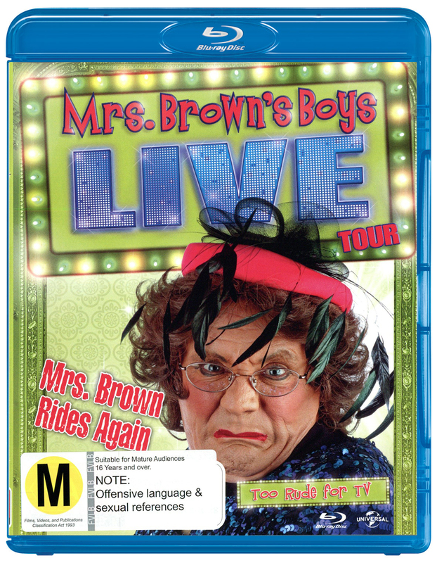 Mrs Browns' Boys Live: Mrs Brown Rides Again on Blu-ray