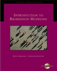 Introduction to Regression Modeling by Bovas Abraham image