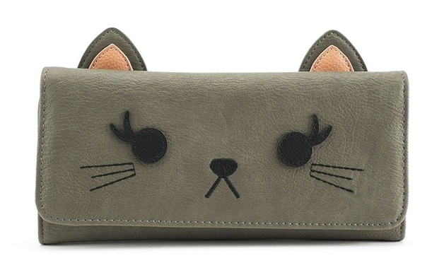 Loungefly: Grey Cat - Trifold Wallet