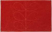 Orla Kiely Sculpted Stem Luxury Bathroom Mat - Tomato