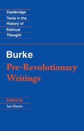 Pre-Revolutionary Writings by Edmund Burke image