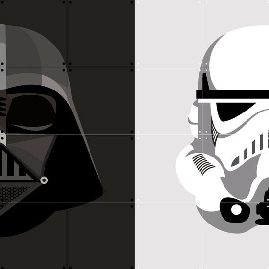 Ixxi: Star Wars Stormtrooper / Darth Vader Wall Art - 80cm X 80cm