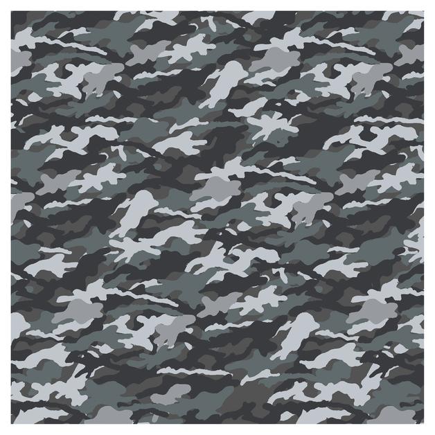 SKINZ: Camo Book Cover - Grey Assorted (45cm x 1m)