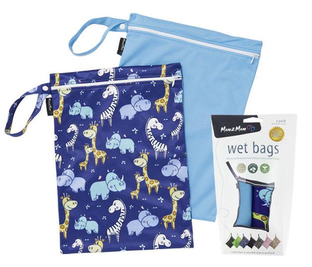 Mum 2 Mum: Wet Bag - Animals Twin Pack