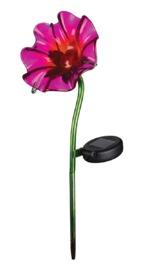Regal Art & Gift: Mini Solar Poppy Stake - Fuchsia