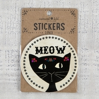Natural Life: Set of 3 Stickers - Meow Cat