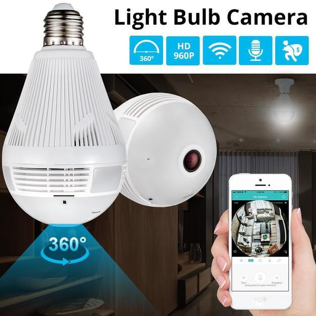 360 Degree Panoramic Light Bulb WiFi Security Camera