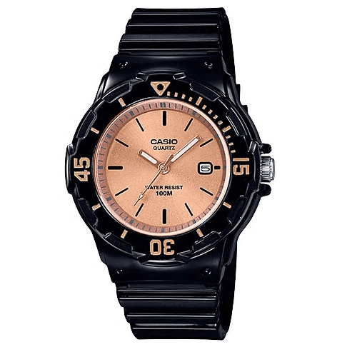 Casio Youth Series Watch Black/Rose Gold - LRW-200H-9E2VDF