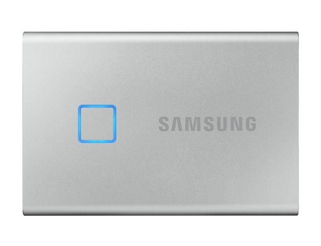 1TB Samsung Portable SSD T7 Touch USB3.2 Gen.2 Type-C Silver
