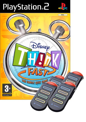 Disney Think Fast + 4 Buzzers for PS2 image