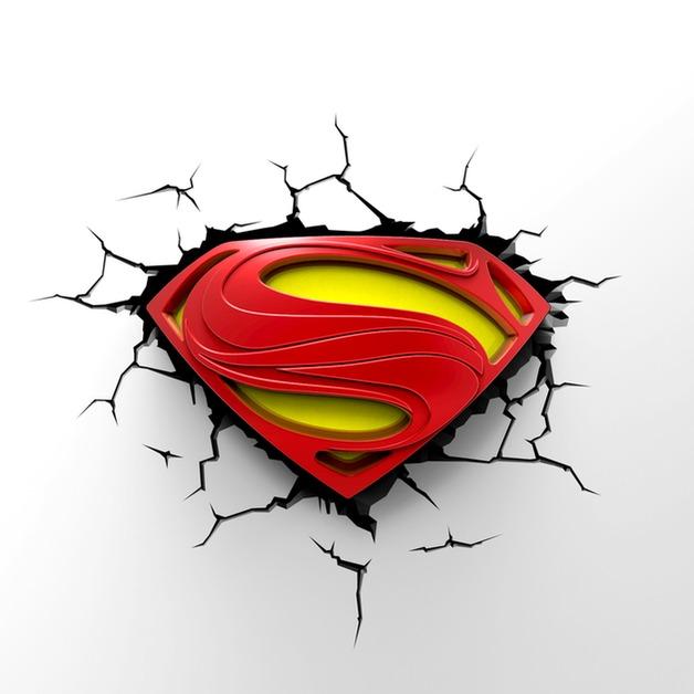3D Deco Night Light - Superman Logo