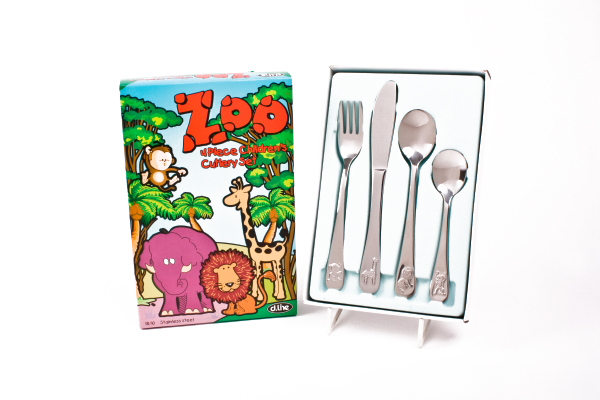 Stainless Steel Child's Cutlery Set - Zoo