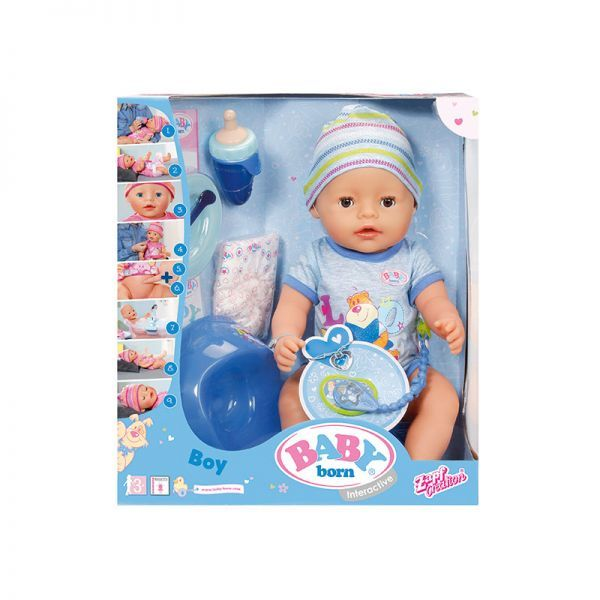 Baby Born Interactive Doll Boy Toy At Mighty Ape