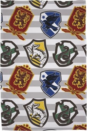 Harry Potter: Flannel Fleece Blanket - House Emblems