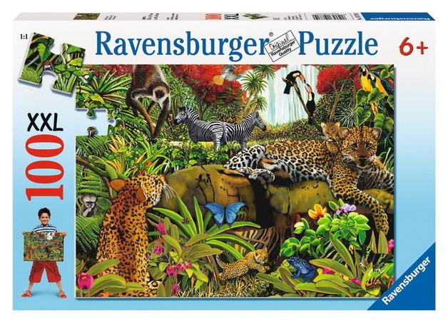 Ravensburger 100 Piece Jigsaw Puzzle - Wild Jungle