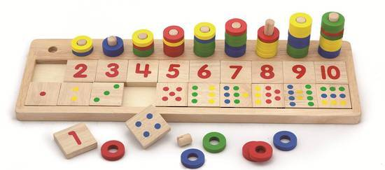 VIGA Wooden Toys - Count & Match Numbers