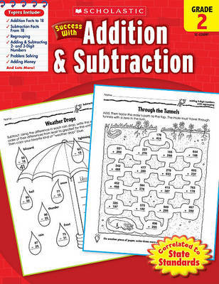 Scholastic Success with Addition & Subtraction, Grade 2 by Danette Randolph image
