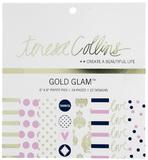 "Teresa Collins - Gold Glam Paper Pad 6"" x 6"""