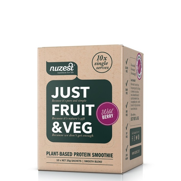 Just Fruit & Veg Protein Smoothie - Wild Berry (10 Sachets)