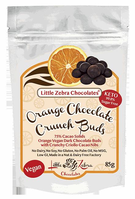 Little Zebra Chocolates: Orange Chocolate Crunch Buds