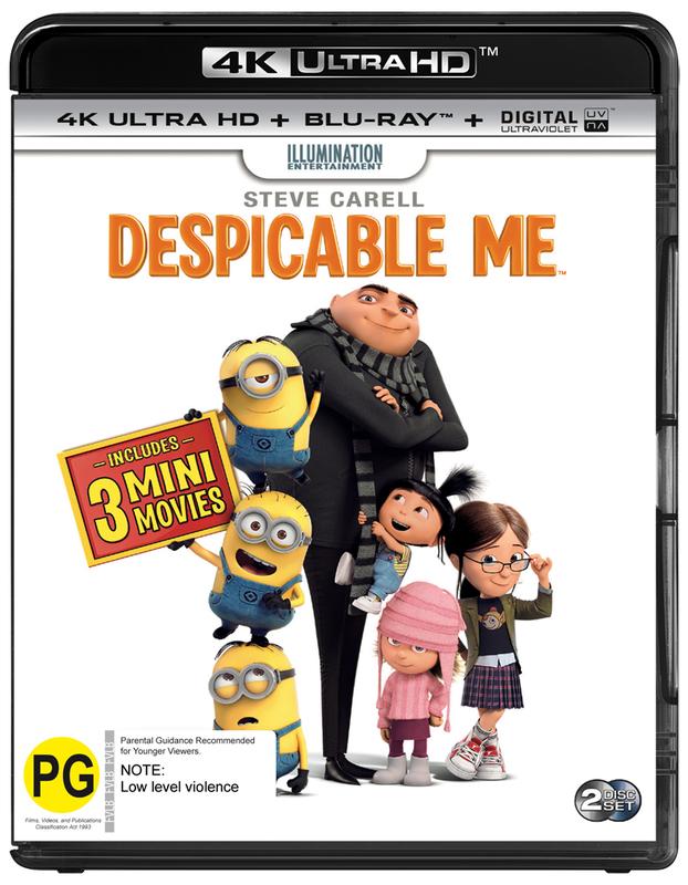 Despicable Me on Blu-ray, UHD Blu-ray