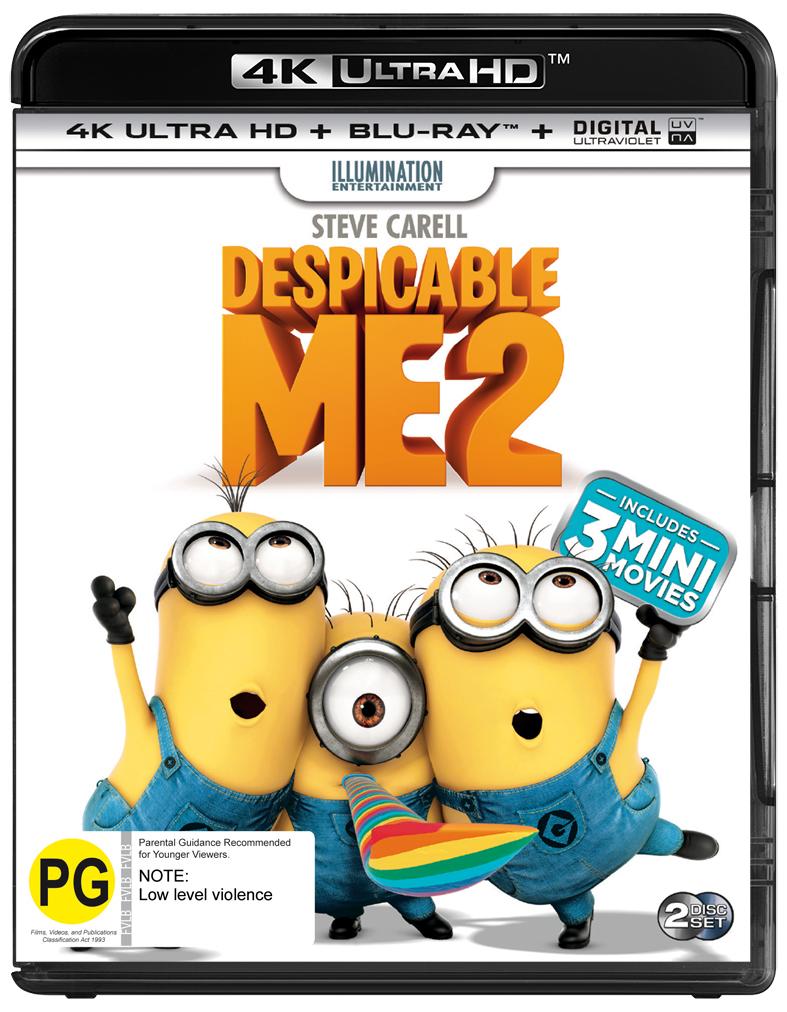 Despicable Me 2 on Blu-ray, UHD Blu-ray image
