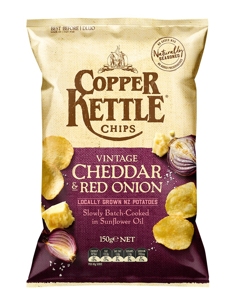 Copper Kettle Potato Chips - Vintage Cheddar & Red Onion (150g) image
