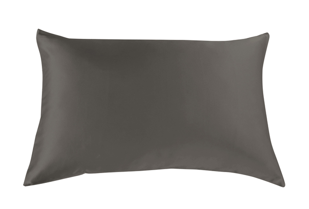 Royal Comfort Mulberry Silk Pillow Case Twin Pack (Charcoal)