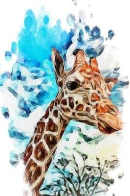 Notebook - Giraffe Abstract Painting by Happy Vibes Journal Co