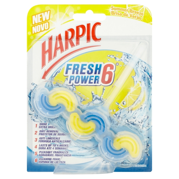 Harpic: Fresh Power Toilet Cleaner Summer Breeze 39g