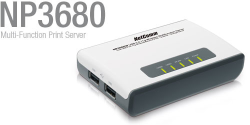 NetComm NP3680 Multi-Function USB Print Server