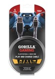 Gorilla Gaming Play and Charge Cable (5 Metres, PS4 & Xbox One) for PS4