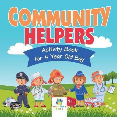 Community Helpers Activity Book for 4 Year Old Boy by Educando Kids